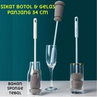 34cm Sikat Spons Pembersih Botol Minum Susu Gelas Sponge Cleaning Brus