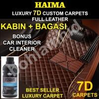 Karpet Mobil BRIO HAIMA 7D Custom Leather Luxury 2brs+bagasi