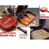 Wajan Happy Call Double Pan 32cm | Teflon Dobel | Panggangan