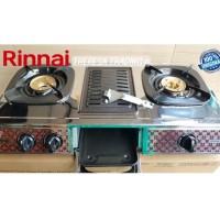 Kompor Gas Rinnai 2 Tungku + Griller RI-524A | RI 524 A
