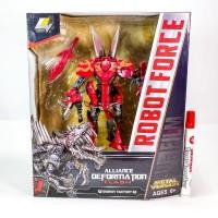Mainan Robot Transformers Weijiang Robot Force Flash T-rex