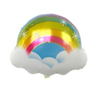 Balon Foil Rainbow Cloud Star Size 58 cm