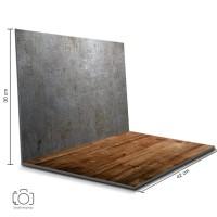 Alas Foto Lipat Steel & Kayu / Background Foto Produk (STL-08)