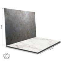 Alas Foto Lipat Steel & Marmer / Background Foto Produk (STL-04)