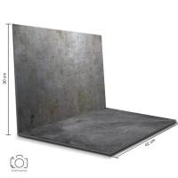 Alas Foto Lipat Steel & Semen 42 x 30 cm / Background Foto (STL-03)