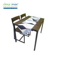 Sleep Max Table Runner/Taplak Meja Panjang 38x145 Cm - Abstrak Putih