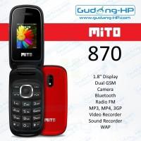 MITO 870 Flip Dual SIM Garansi Resmi