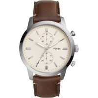 Jam Tangan Pria Fossil FS5350 Townsman Chronograph Dial Brown Leather