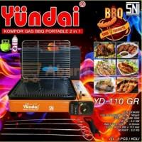 Kompor Gas Panggang BBQ Portable / Gas Stove BBQ Yundai YD-110 2in1