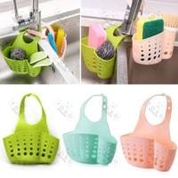 Silicone Tempat Sabun Cuci Dapur Gantung Sponge Holder Kran Wastafel