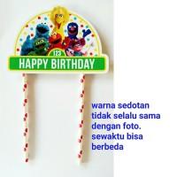 topper kue cake happy birthday ulang tahun karakter sesame street
