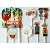 topper kue cake happy birthday ulang tahun karakter ondel ondel betawi