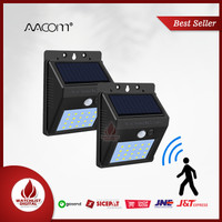 AVACOM Lampu Solar Sensor Gerak Outdoor Weatherproof 20 LED 1 PCS