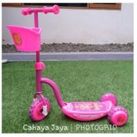Scooter / Otoped Roda Tiga PMB Musik Lampu (Pink)