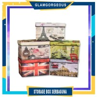SB001 - BIG Storage box / Storage Stool / Tempat Mainan Ukuran 48 cm