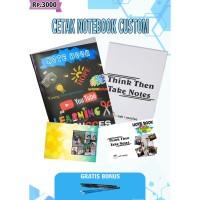 (Free Bonus) Cetak Buku Catatan Notebook Custom Murah