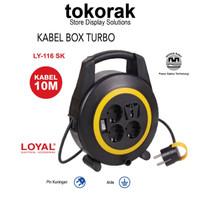 KABEL BOX NEW BOX TURBO 10M SK LY-116 COLOKAN ROLL LOYAL STOP KONTAK