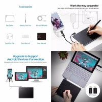 Huion Pentab Drawing Tablet Pen Support Android Mac Window H430P ORI