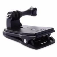 Quick Clip 360 Mount Action Cam - Klip Backpack Topi Tas Action cam