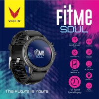 VYATTA Fitme Soul Smartwatch - Custom Watch Face, Full Touch, Metal - Hitam