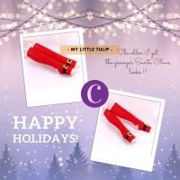 Kaoskaki Panjang Santa Claus / Kaos Kaki Wanita Merah Santa Natal Imut