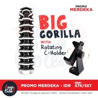 Big GorillaPod Flexible Tripod with Rotating 360 C Clamp Phone Holder