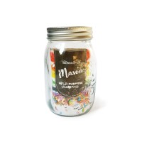 Homeland Mason Glass Jar / Toples Kaca 14 cm