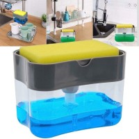 Tempat Dispenser Sabun Cuci Piring Soap Pump Sponge Caddy