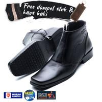 Sepatu Boot Pria Formal Free Dompet Stnk Lipat 2 dan Kaos Kaki 0314