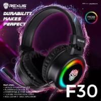 Headset Gaming RGB Rexus F30 with USB FREE Splitter Audio