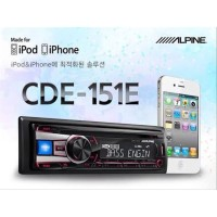 AUDIO Alpine CDE-151E Single Din Receiver USB IPOD MP3