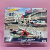Hot Wheels Team Transport 2016 Ford GT Race & Ford C-800 Castrol Tampo