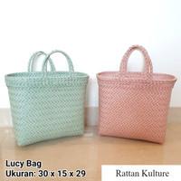 Lucy Bag - Tas Anyam Plastik Shopping Bag, Tas Parcel, Tas Belanja