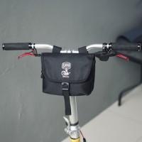 Tas sepeda lipat/ aksesoris sepeda brompton - Hitam