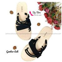 MIDORI - Lily Shoes sandal slop wanita real pict murah berkualitas (s