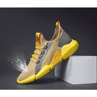 Sepatu Sneakers Pria Import Xavier Zachary Sport Z1 Sepatu Olahraga - Kuning, 41