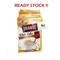 Kopi Kapal Api GRANDE White Coffee with Choco Topping (isi 10 pcs)