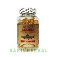 Omega 3 6 9 K-Max Alaska Tutup Putih Fish Oil 1000 mg