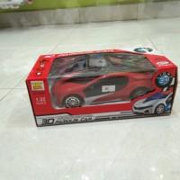 mainan 3D famous car remote control