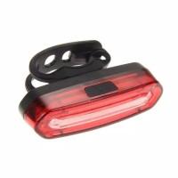 Lampu Belakang Sepeda LED COB USB Rechargeable dua 2 warna charger
