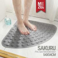 SAKURU PVC Bathroom Mat Anti Slip Keset Kamar Mandi Penghisap Suction - SLATE 54X54