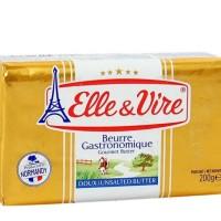 ELLE & VIRE Butter packet unsalted kemasan 200 gram
