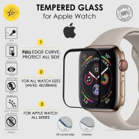 Tempered Glass 3D Apple Watch iWatch series 5 4 3 2 1 Screen Guard Pro