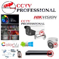 PAKET CCTV IP HIKVISION COLORVU 7 CAMERA 8CH 4MP NETWORK LENGKAP