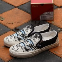 Sepatu vans slip on blue tuna waffle DT BNIB Orginal