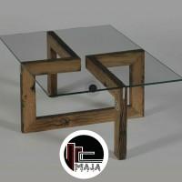 meja kayu modern minimalis