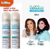 Lavme Hand Sanitizer Anti Virus Organic New Normal 3 In 1 85ml - 2 Pcs