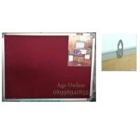 Softboard mading papan tulis keiko beludru 120 x 240 cm gantung