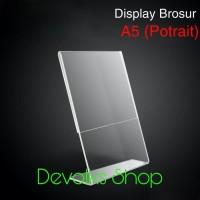 TEMPAT BROSUR / TENT HOLDER / TENT CARD AKRILIK DISPLAY UKURAN A5