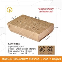 Lunch Box, Tempat makan Dus Kotak nasi packaging Snack Box TC-LB201205